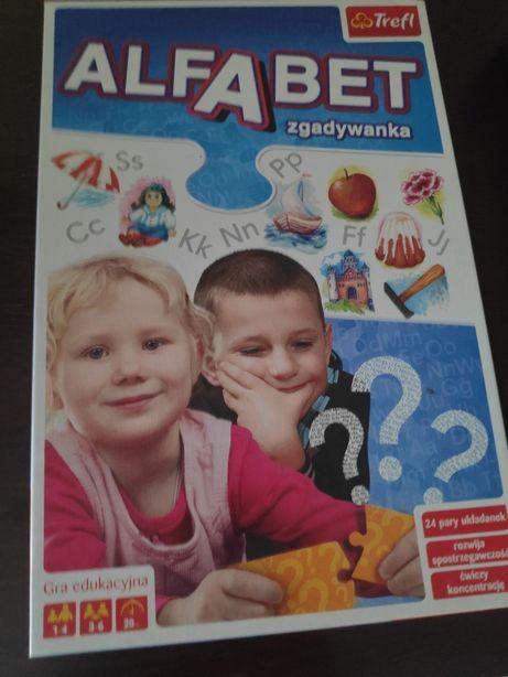 Gra zabawa alfabet zgadywanka