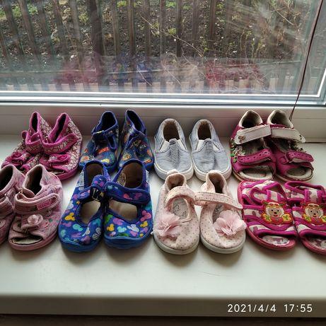 Пакет, набор  летней обуви для девочки ( босоножки, мокасины, тапочки)