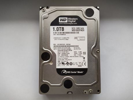 """Жесткий диск WD Black 1TB 7200rpm 64MB 3.5"""" SATA III"""