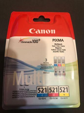 Tusz canon multi color 521 C M Y pixma 3 tusze