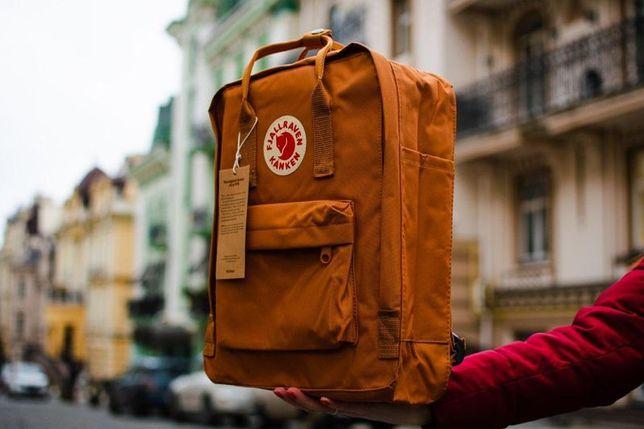 Fjallraven kanken Classic рюкзак с лисой Фьялравен Канкен Коричневый