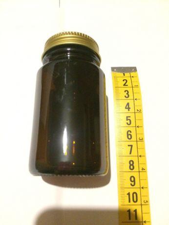 frascos de vidro escuro
