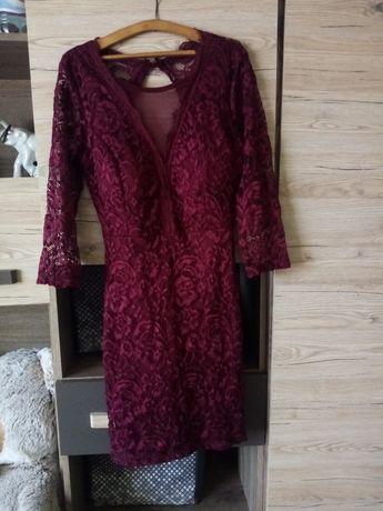 Sukienka  bordowo