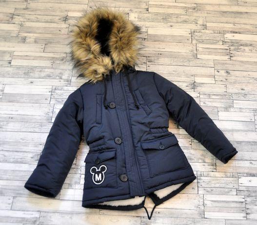 Зимняя куртка для мальчика рост 92