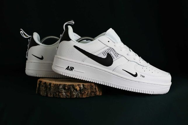 530 Кроссовки Nike Air Force (41-46) - Вьетнам, Белые, ТОП, кожа, найк