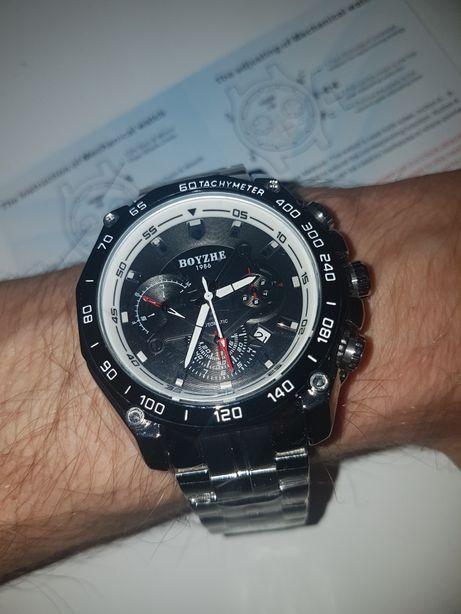 Zegarek automatyczny mechaniczny kalendarz multidata na prezent Super