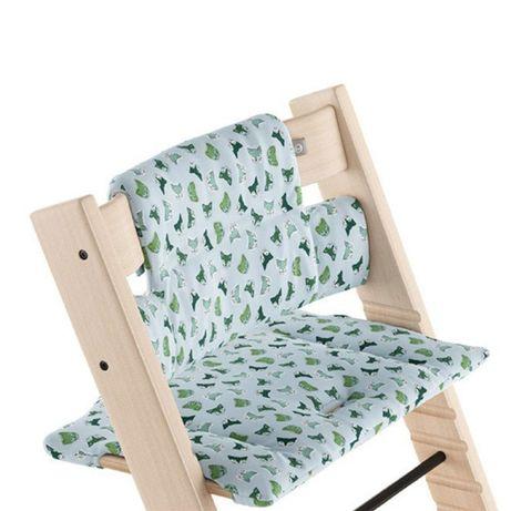 Krzesełko tripp trapp, baby set, tacka, poduszka nowe