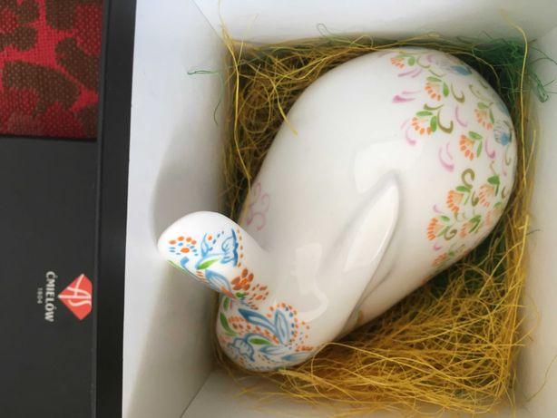 Porcelanowy (wielkanocny)  królik