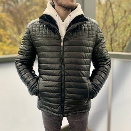 Куртка зимова тепла шкіряна. Хіт продажу! Нажми на мене!