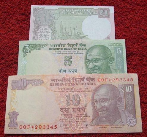 INDIE Kolekcjonerskie Banknoty Zestaw - 3 sztuki UNC