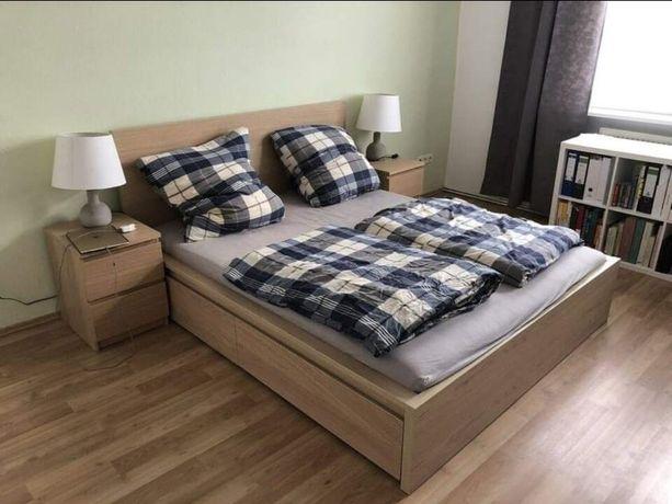 Łóżko Malm Ikea,4szuflady,stelaż,materac gratis,dowóz
