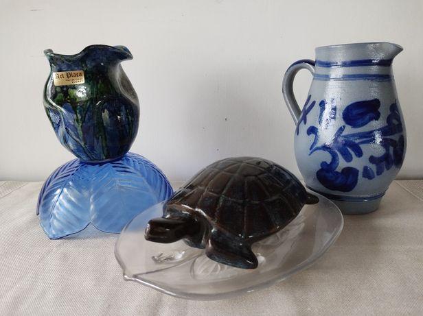 Ceramika niemiecka żółw wazonik paterka dzbanek miska Ząbkowice