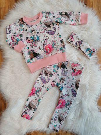 Nowy komplet dla dziewczynki handmade
