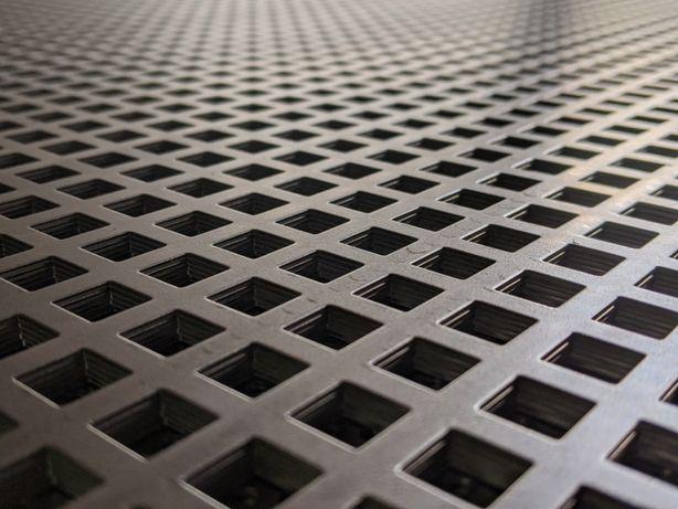 Blacha perforowana stalowa - otwór kwadratowy / okrągły