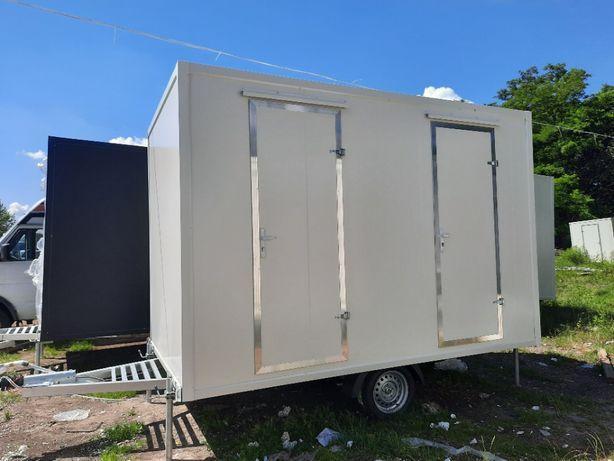 Przyczepa sanitarna socjalna WC toaleta NOWA 3,5x2m WYPRZEDAŻ