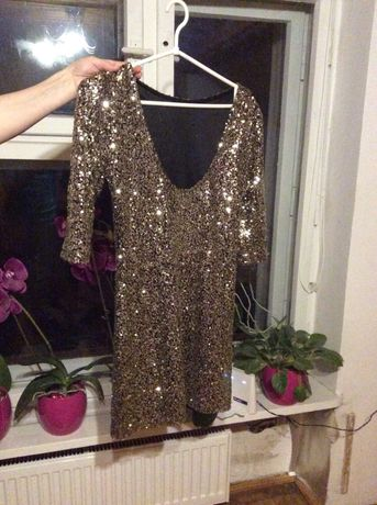 Sukienka złota cekiny s