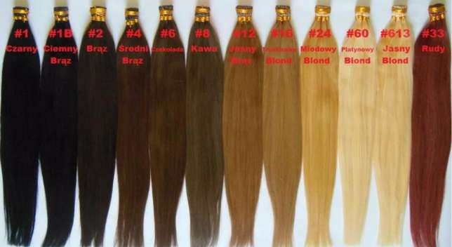 OKAZJA pasemka na ringi włosy naturalne 60,cm TANIO