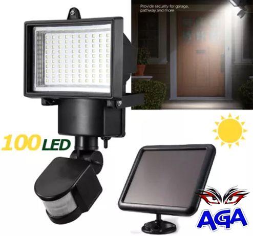 Lampa Solar/Solarna 100 LED Sensor Czujnik Ruchu / Zmierzchu