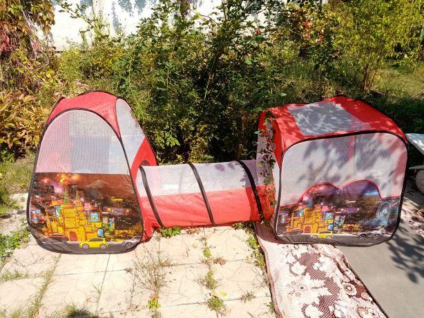 Продам большую детскую палатку с тоннелем