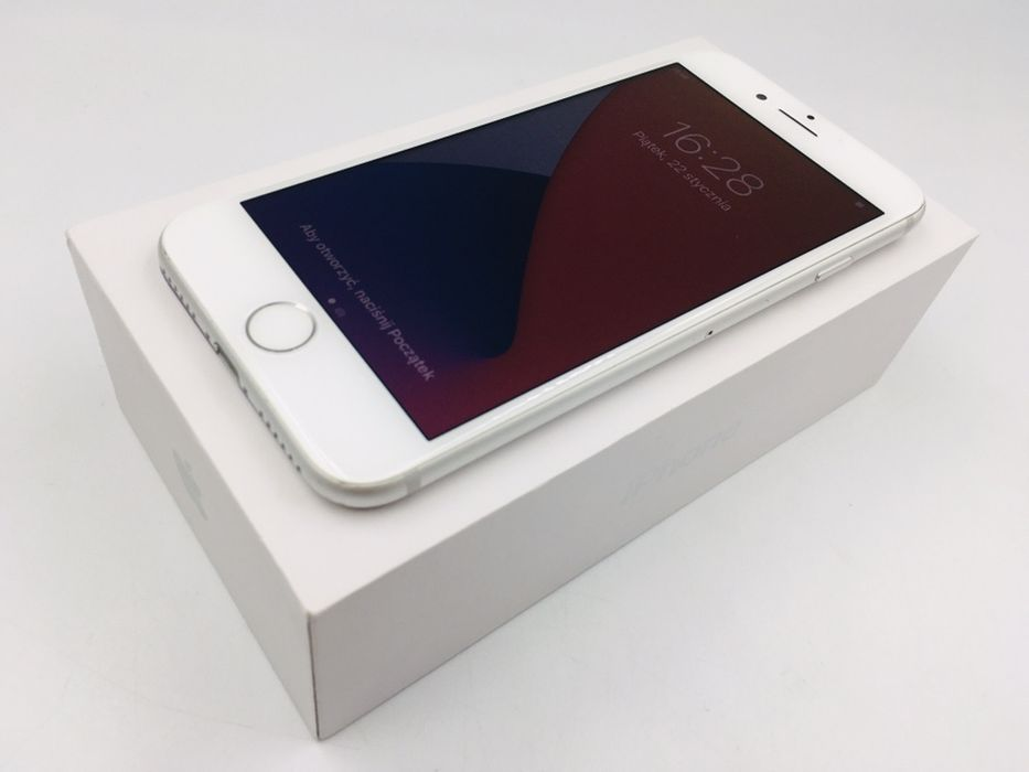 iPhone 7 32GB SILVER • NOWA bateria • GWAR 1 MSC • AppleCentrum Wrocław - image 1