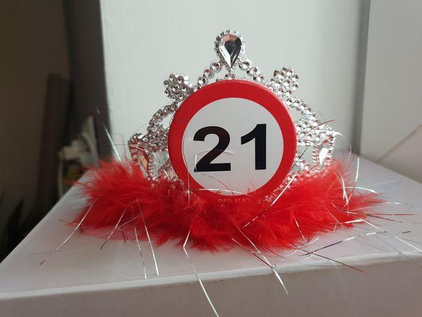 Opaska do włosów korona urodziny 21