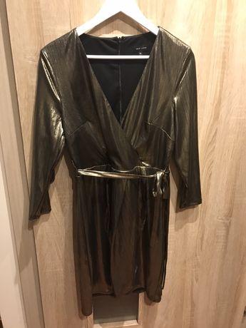 Złota sukienka r.42 New Look