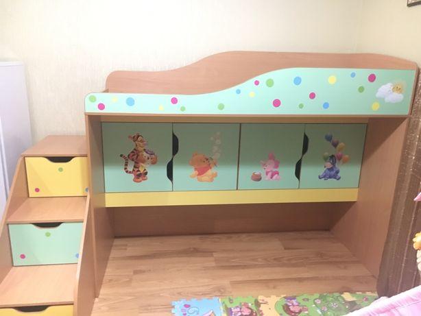 Кровать чердак, двухяросная кровать, детская кровать, кровать