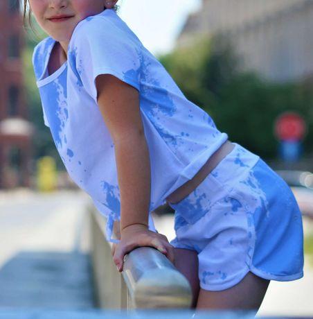 Letni  komplet bluzka i krótkie spodenki dla dziewczynki
