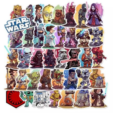 Виниловые Наклейки Звёздные войны(Star Wars) 50шт набор стикеры фильмы