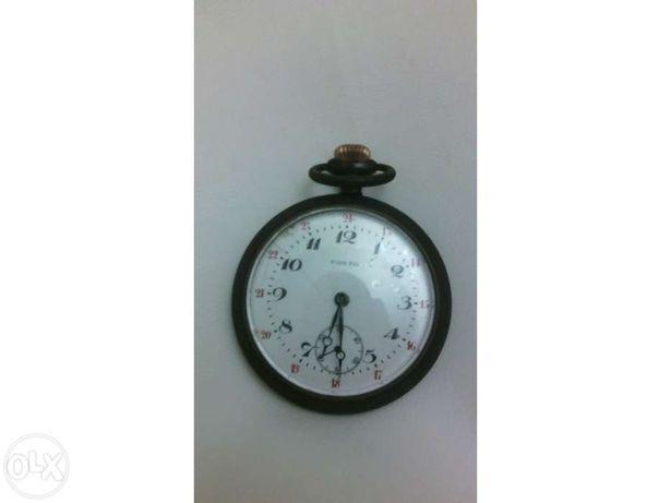 Relógio bolso costo prata antigo vintage