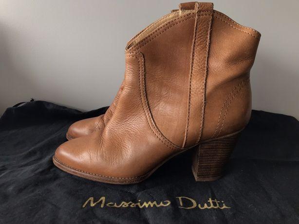 Botas tacão Massimo Dutti