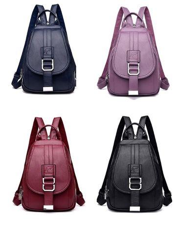Женский кожаный популярный рюкзак женская сумка ранець 2 в 1 новинка