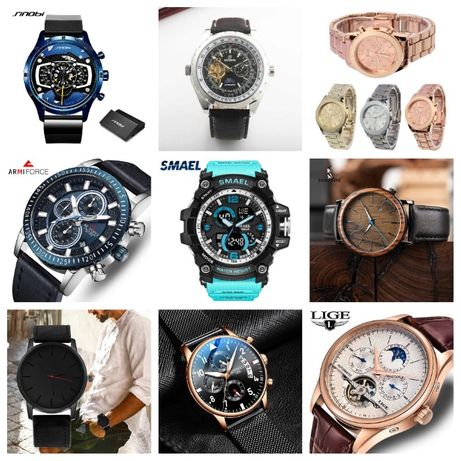 Zestaw różne zegarki