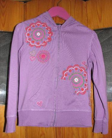 Fioletowa lekka bluza dla dziewczynki 4-5 lat