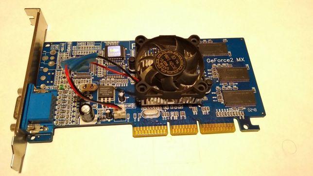 Продам Видеокарту AGP NVIDIA GeForce2 MX400 (32Mb/SDRAM/128bit/2xVGA