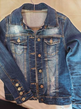 Джинсовая курточка  на подростка производства Турция