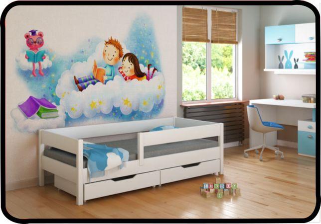 Кровать детская деревяная с бортиком 140x70 160x80 180х80 Польша!! -од