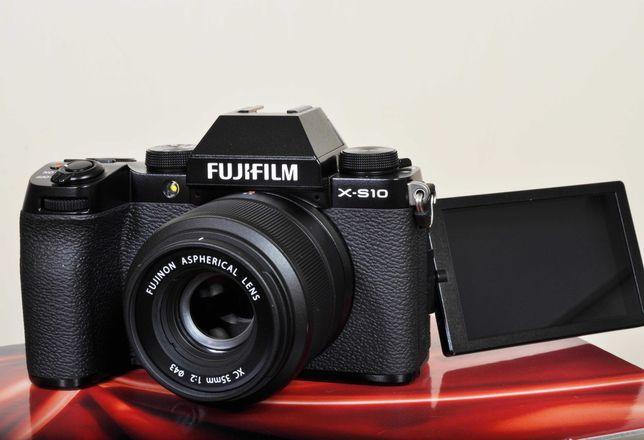 Fuji X-S10, novo com Fuji  Xc 35mm F: 2.0. Fatura/garantia nacional