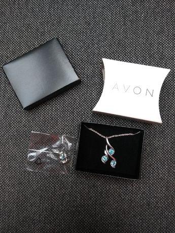 NOWY Zestaw biżuterii naszyjnik kolczyki Avon WYSYŁKA