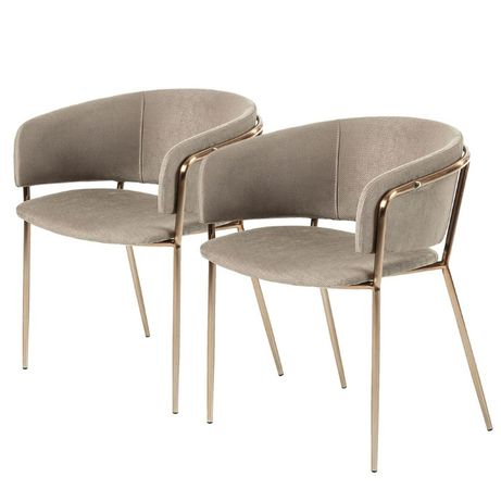 Fotel tapicerowany do kuchni salonu Vilhena 2 szt. M010