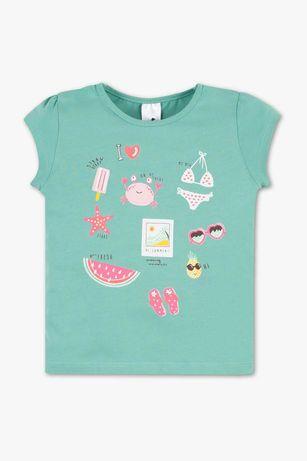 Стильная детская хлопковая футболка для девочки C&A Palomino