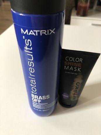 MATRIX szampon Brass Off neutralizujacy żólty odcień plus odżywka