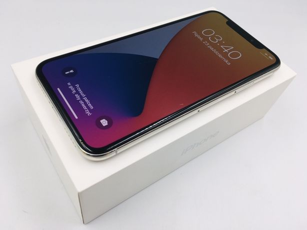 iPhone X 64GB SILVER • PROMOCJA • GWAR 1 MSC • AppleCentrum
