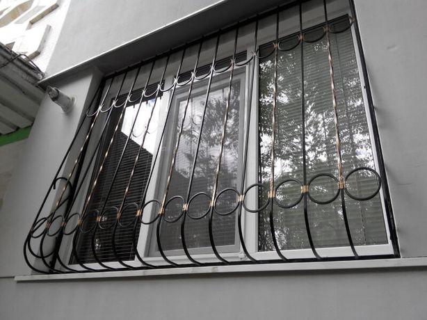 Решетки на окна, двери, балкон. Кованые и сварные. Установка. Доставка
