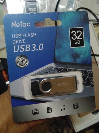 USB 3.0 флешка 32 ГБ компьютерная Netac