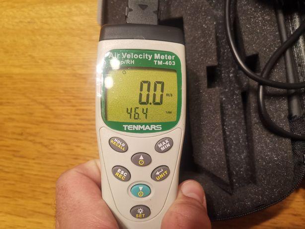 Anemometr, Miernik przepływu, temperatury i wilgotności powietrz