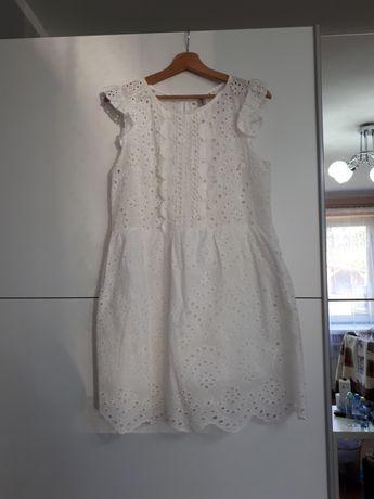 Sukienka kremowa/ecru boho r.L