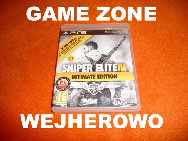 Sniper Elite 3 PS3 + PS3 Slim = PŁYTA PL Wejherowo = Rozszerzony 9 DLC
