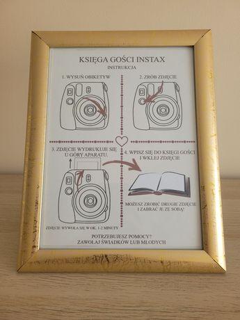 Instrukcje weselne do instaxa