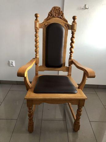 Krzesła, fotele gdańskie, drewniane, dębowe, dąb nowe! 4 sztuki